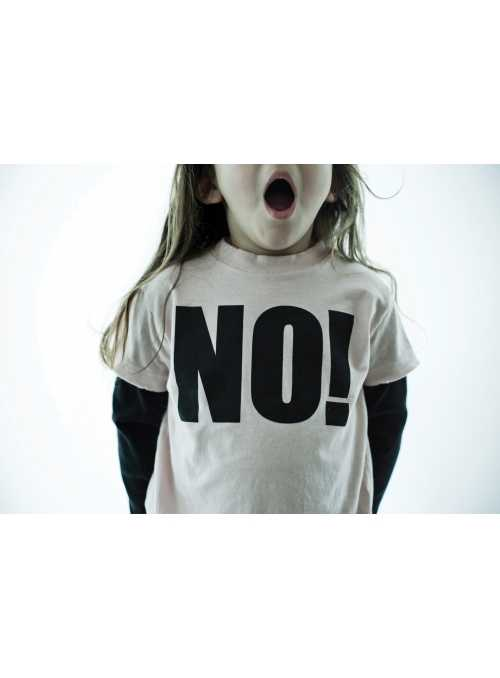 Detské tričko s dlhým rukávom NO! Šedé
