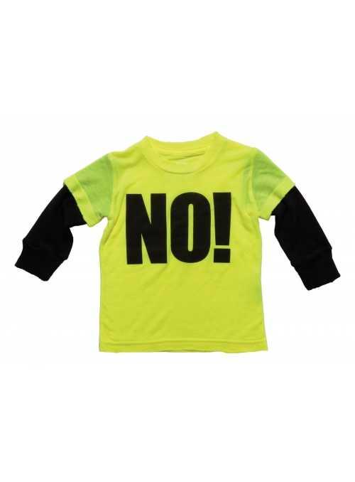 Detské tričko s dlhým rukávom NO! Neónové