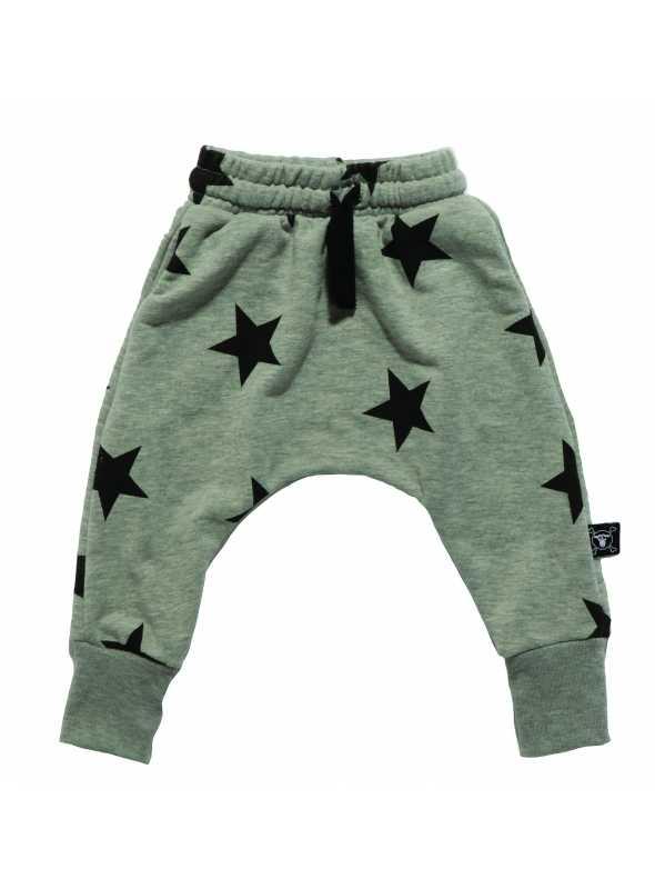 Detské pudlové nohavice – hviezdičky, šedé