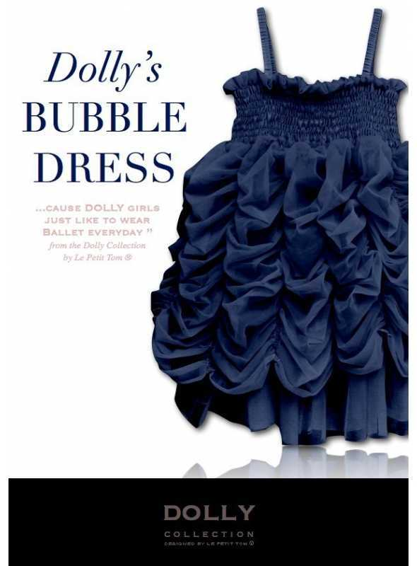BUBBLE DRESS dark blue