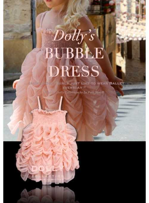 BUBBLE DRESS ballet pink