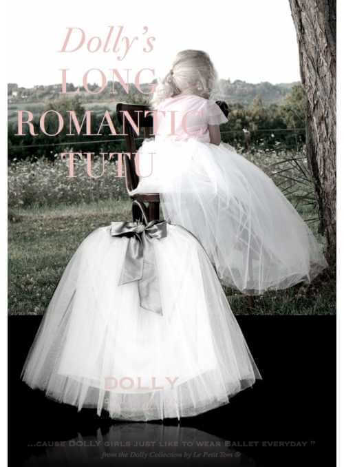 ROMANTIC LONG TUTU white + blue