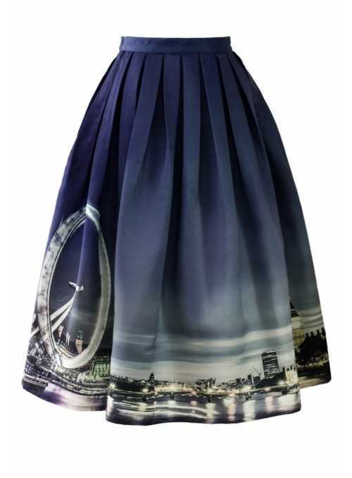 "Midi skirt ""London's Night Life"""