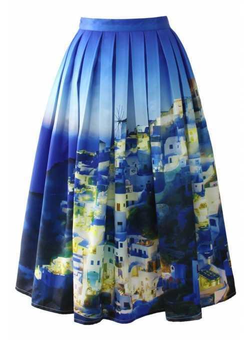 "Midi skirt ""Summer Santorini"""