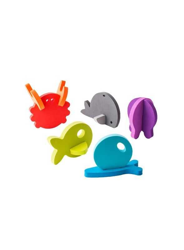 3D penové zvieratká do vane
