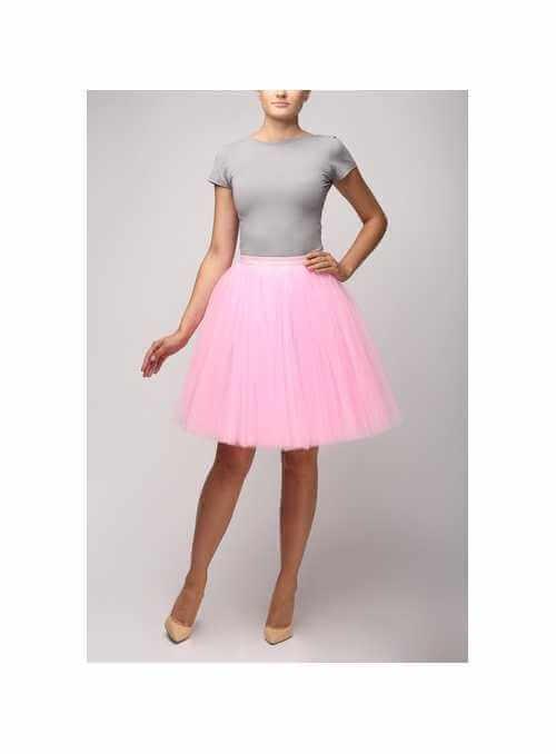 Tylová sukňa sladká ružová – krátka 58cm
