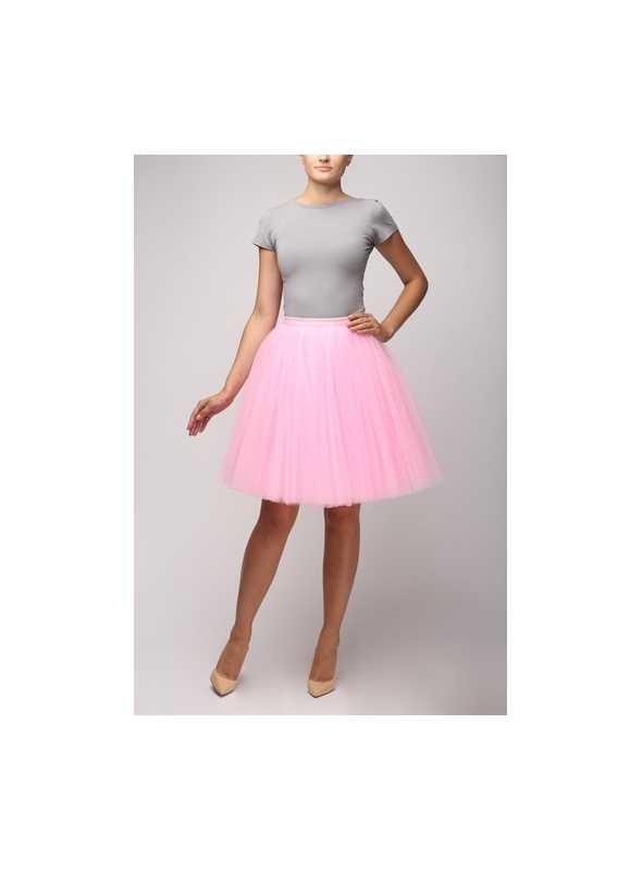 Sweet pink tulle skirt – 58cm short
