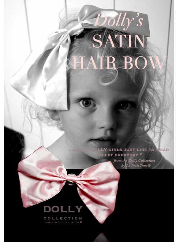 CLASSIC SATIN HAIR BOW ballet pink