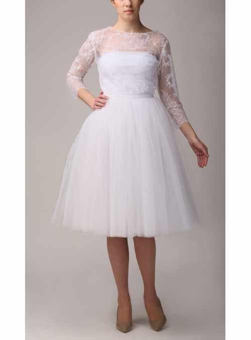 Tylová sukňa baletná biela 72 cm