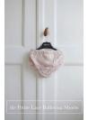 Exkluzívne Petite čipkové šortky so šifónovými volánmi, baletná ružová