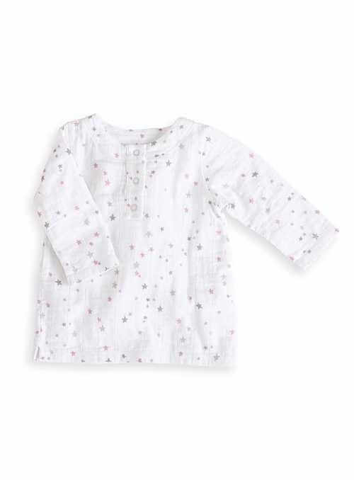 Long-sleeved tunic Pink stars Aden&Anais